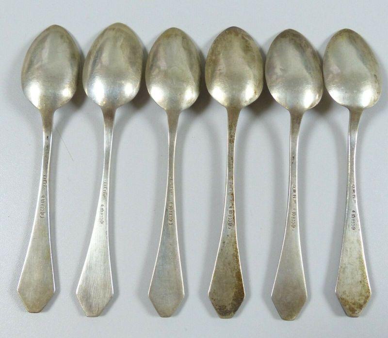 6 Kaffeelöffel aus 800 Silber mit Monogramm EG gestempelt D.R.G.M.  (da5606) 1