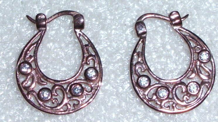 Ohrringe aus 333 Gold mit weißen Steinen wohl russisch (da0312)