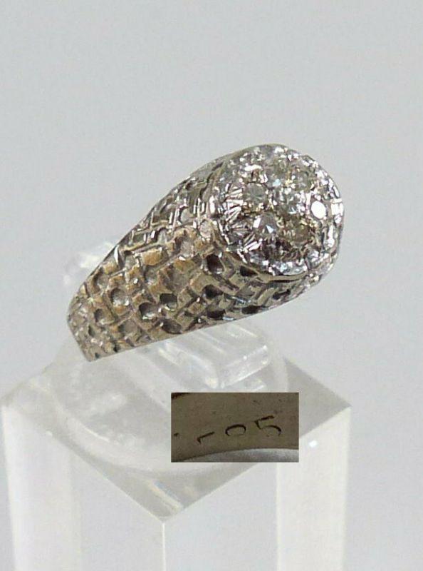 Diamant Ring aus 585 Weißgold mit 7 Diamanten, Gr. 57/Ø 18 mm  (da5624)