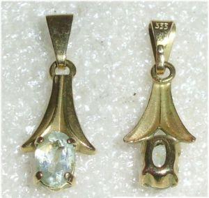 Anhänger aus 333er Gold mit Aquamarin  (da3538)