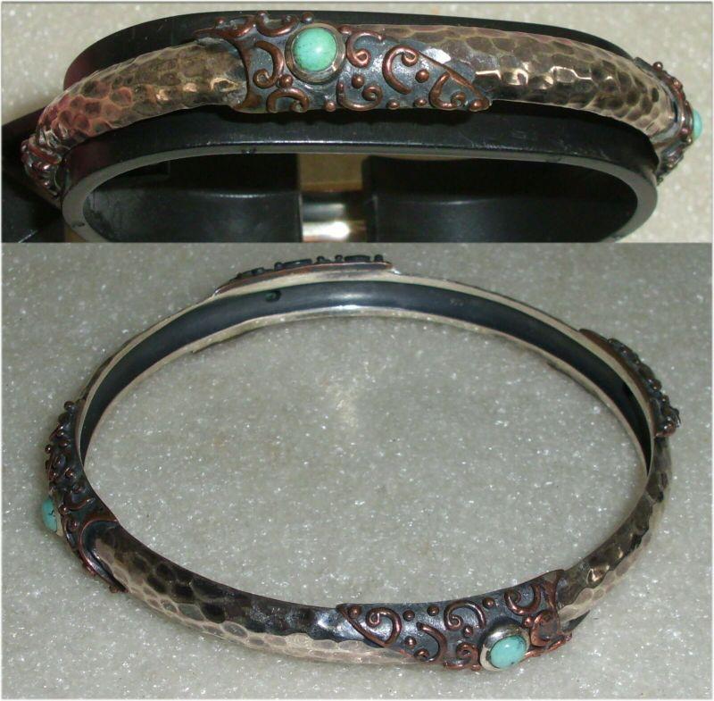 Armreif aus 925er Silber mit Türkise (da3535)