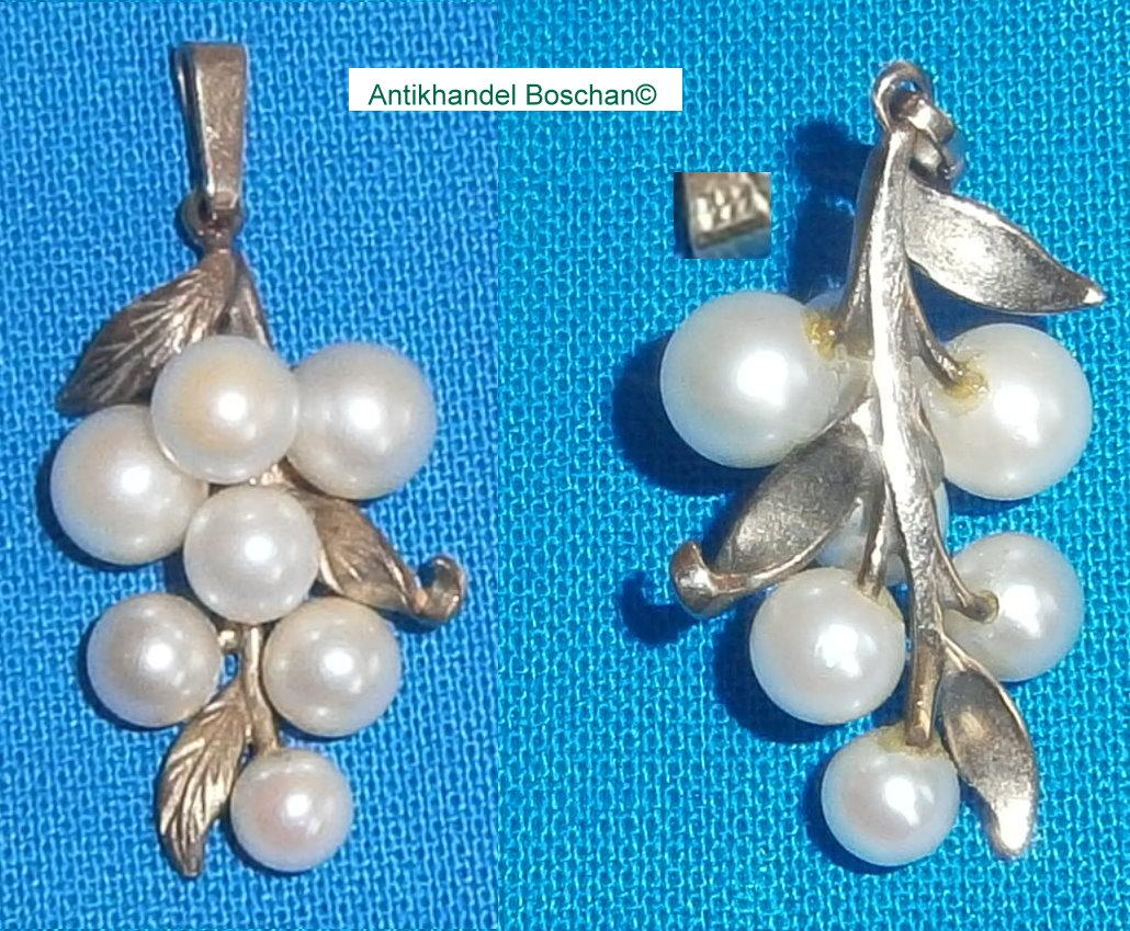 Anhänger 333 Gold mit Perlen