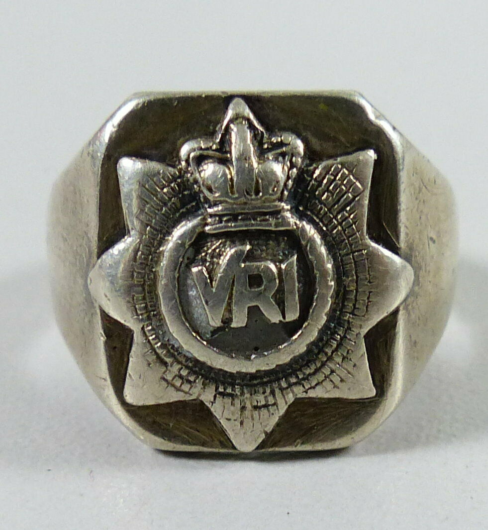 Original alter Militärring wohl Kanada 925 Silber 2. WK     (da5650)