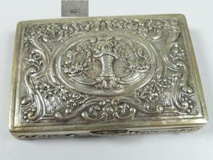 Gründerzeit Pillendose aus 800 Silber (da5655)