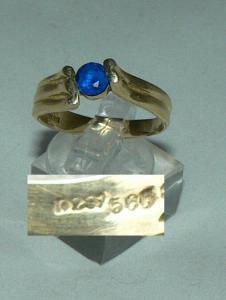 Ring aus 585er Gold mit Tansanit, Gr. 61/Ø 19,4 mm  (da4391)