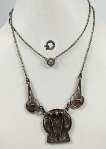 Original altes Art Déco Collier aus 800 Silber   (da5657)