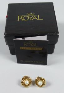 Royal Ohrstecker Dagmar aus 585 Gold mit Zuchtperle (da5669)