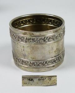 Serviettenring aus 800 Silber mit Rosen (da5668)