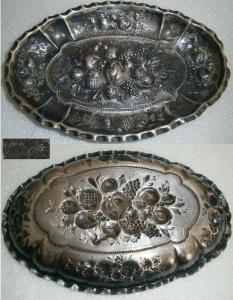 Tolle kleine Gründerzeit-Schale aus massivem 800 Silber