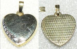 Anhänger Herz aus 333 Gold mit Zirkonia