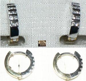 Ohrringe aus 333 Gold mit weißen Steinen (d8080)