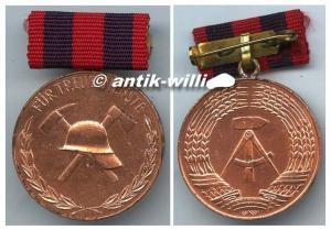 DDR Medaille treue Dienste i.d. freiwilligen Feuerwehr