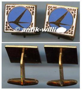 2 Manschettenknöpfe mit Tarom Emblem/Logo aus DDR Zeit