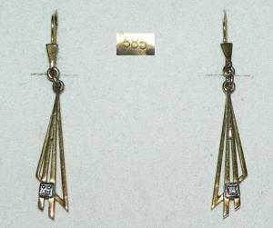 Ohrringe aus 585er Gelbgold mit Zirkonia, 3,45 Gramm (da2819)
