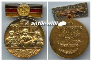 Medaille zum 30. Jahrestag der Gründung der DDR