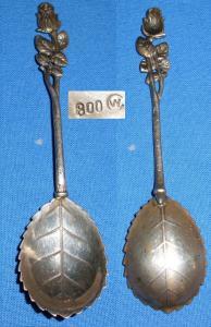 original alter Zuckerlöffel 800 Silber Rose
