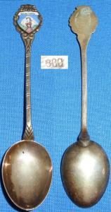 alter Kaffeelöffel 800 Silber m. Emaille Solda 1900 m  (c0517)