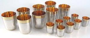 16 hochwertige Trinkbecher in 925 Silber von BAHR   (si0715)
