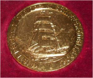 DDR Medaille Meisterschaft der DDR im Schiffsmodellsport in OVP (da3302)