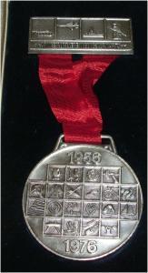 DDR Medaille Armeesportvereinigung Vorwärts 1956 - 1976 in OVP (da3299)