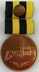 Medaille für Verdienste in der Kohleindustrie der DDR in Bronze (AH243b)