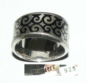 ESPRIT-Ring aus 925er Silber, Gr. 52/Ø 16,6 mm  (da4287)