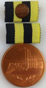 Medaille für Verdienste in der Kohleindustrie der DDR in Bronze (AH243a)