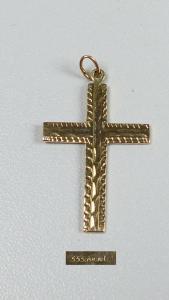 Kreuz-Anhänger aus 333er Gold mit Signatur   (da5197)