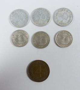 1 Position Münzen 50 Pfennig und 4 Pfennig  (da5196)