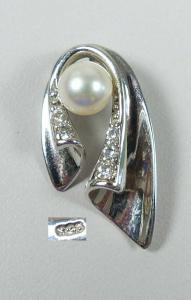 Wunderschöner Anhänger aus 925 Silber mit Perle  (da5682)