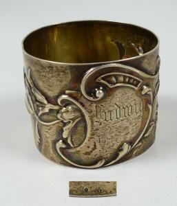 Serviettenring aus 800 Silber mit Gravur Ludwig  (da5725)