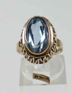 Ring aus 333 Gold mit Aquamarin, Gr. 53/Ø 16,8 mm  (da5707)