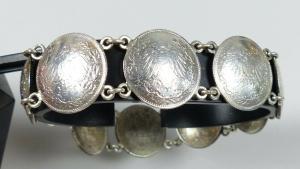 Armband aus 1/2 Mark Münzen Deutsches Reich 9 Stück von 1915 bis 1918  (da5700)