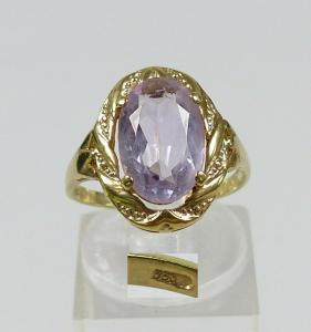 Ring aus 333 Gold mit Amethyst, Gr. 53/Ø 16,8 mm  (da5697)