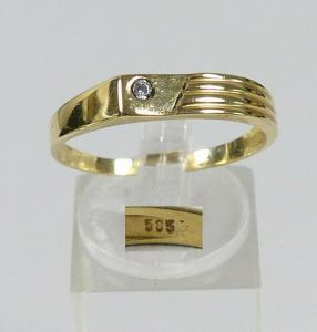Ring aus 585 Gold mit Zirkonia, Gr. 64/Ø 20,3 mm  (da5696)