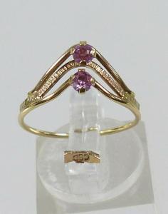 Ring aus 333 Gold mit Amethyste, Gr. 54/Ø 17,2 mm  (da5694)