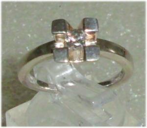 Ring aus 925er Silbermit Zirkonia,  Gr. 53, Ø 16,9 mm  (da3686)