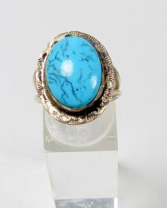 Ring Silber mit Türkis, Gr. 56/Ø 17,8 mm  (da5855)