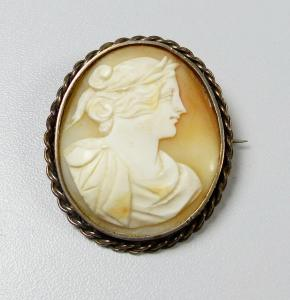 Wunderschöne alte Gemme geschnitten in Silber gefasst  (da5852)