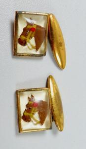 alte Manschettenknöpfe Pferde Kopf   (da5857)