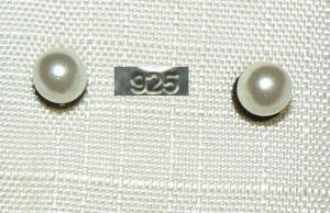 Ohrringe/Stecker aus 925er Silber mit Mittelmeer-Perle   (da4330)