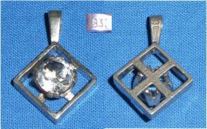 Anhänger aus 835er Silber mit Bergkristall (da3699)