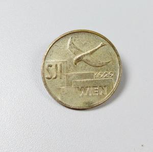 original altes Abzeichen Teilnahme SJI Son. Internationale Wien 1926  (da5890)
