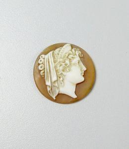 alte Gemme geschnitten, wohl aus alter Brosche (da5930)