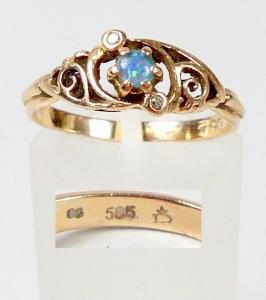 Ring aus 585 Gold mit Opal, Gr. 60/Ø 19,1 mm  (da5923)