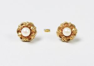 Perlen Ohrringe aus 333 Gold mit Perlen  (da5935)