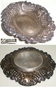 sehr dekorative durchbrochen gearbeitete Schale Silber