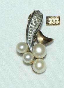 Anhänger aus 333 Gold mit Perlen  (da5987)