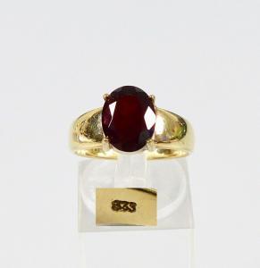 Ring aus 333 Gold mit Granat, Gr. 56/Ø 17,8 mm  (da5982)