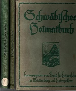 Schwäbisches Heimatbuch 1926 + 1927 + 1938 + 1949 4 Bücher